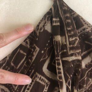 BCBGMaxAzria Tops - BCBG Max Azria silk geometric print halter top